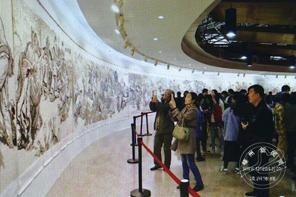 """""""心中有人民""""刘文西百米长卷画展在西安举行"""