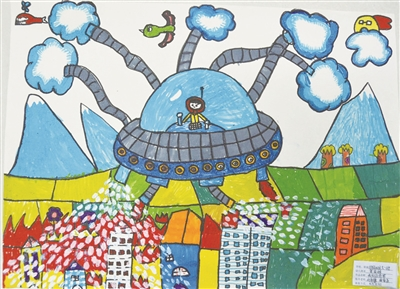 全县第二届儿童消防作文,绘画竞赛作品展示图片