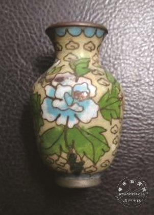 牡丹花纹景泰蓝插花瓶