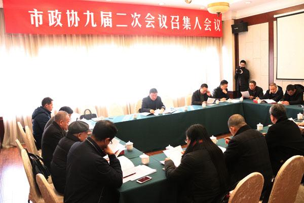 政协第九届玉环市委员会第二次会议举行召集人会议