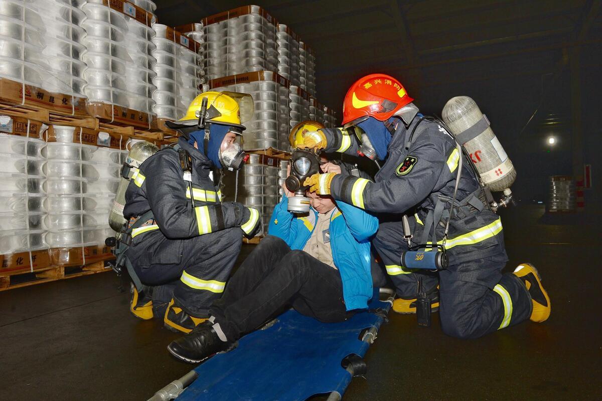 消防救援联合演练