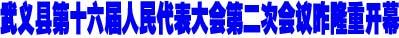武义县第十六届人民代表大会第二次会议昨隆重开幕