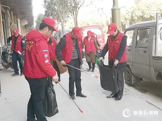 儒岙镇开展迎春文明劝导活动