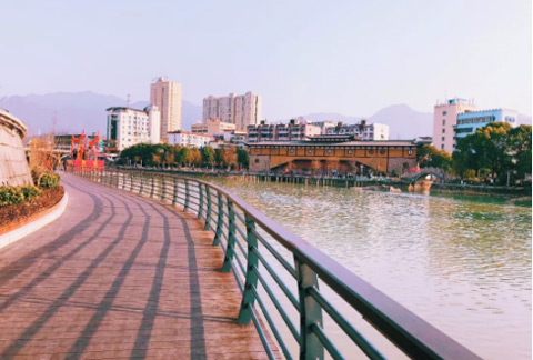 庆元第一条滨水游步道开通啦!