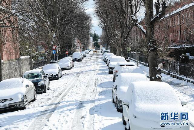 爱尔兰遭遇36年来最严重暴风雪
