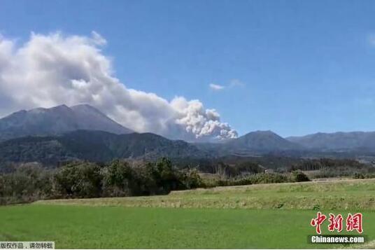 日本一火山喷发 70趟班航班取消