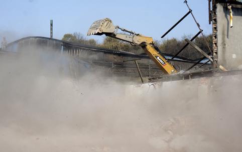 楚门老旧工业点拆违势如破竹 蒲田村小微工业园11月底动工建设