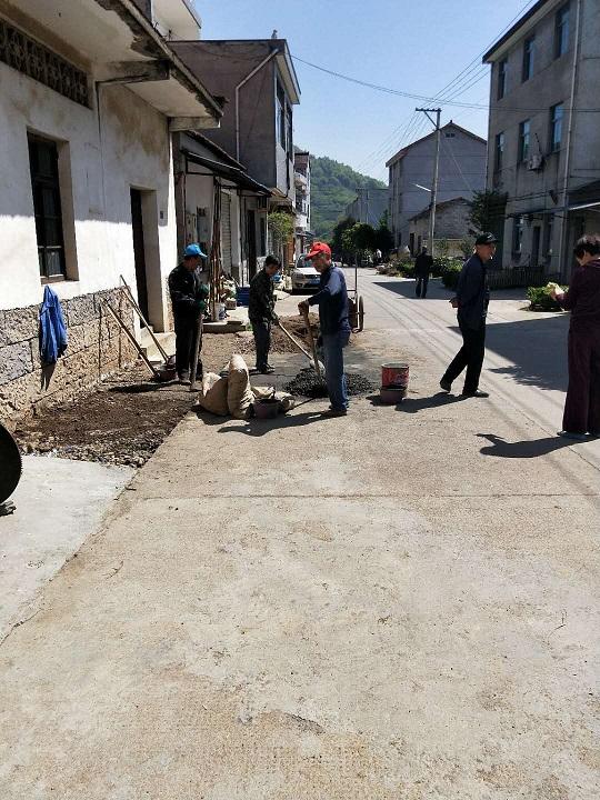 甘霖镇长安村全力推进环境整治示范村建设