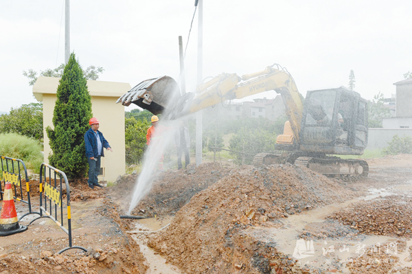 抢修爆裂水管