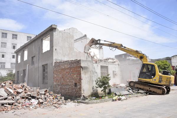 干江:桔场老旧工业点违建拆除进入扫尾阶段
