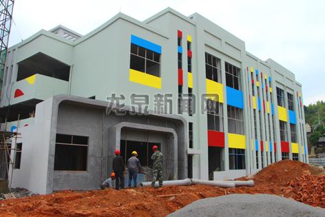 查田镇中心幼儿园已经雏形初显
