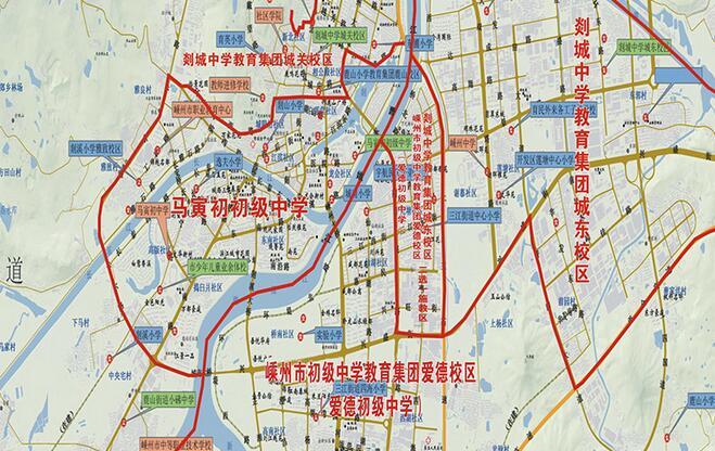 2018学年城区初中施教区图