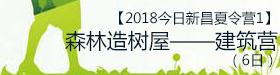 【2018今日新昌夏令营2】森林造树屋――建筑营(6日)