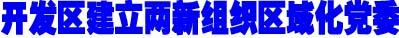 开发区建立两新组织区域化党委