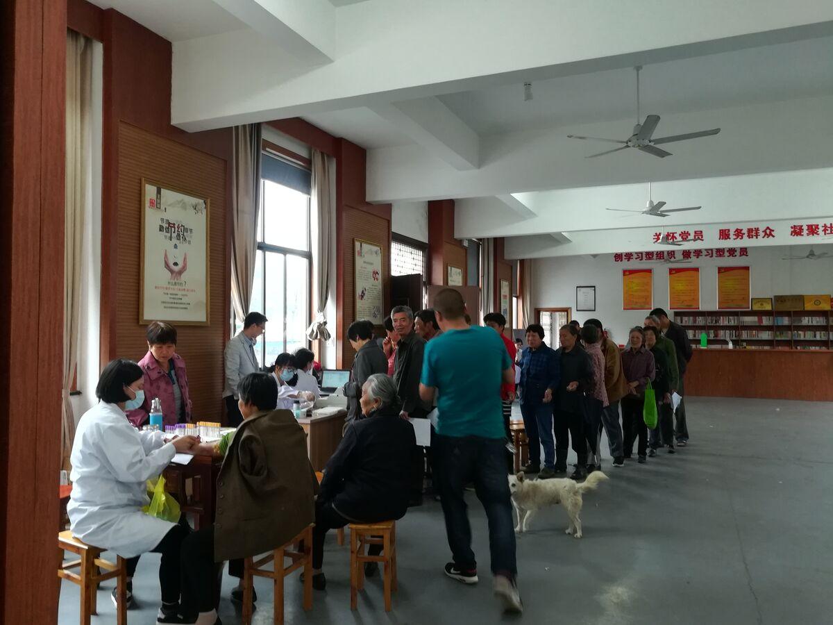 仙岩镇开展2018年参保居民免费健康体检