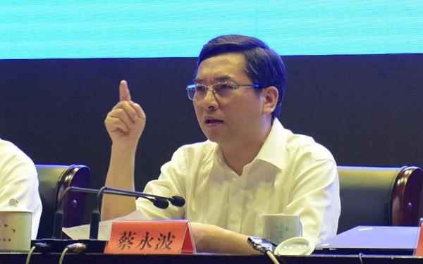 蔡永波在城中村改造建设推进会上讲话