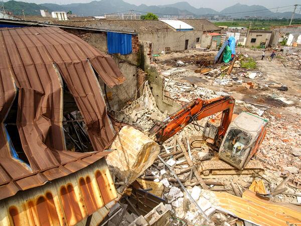 玉城:老旧工业区集中拆违