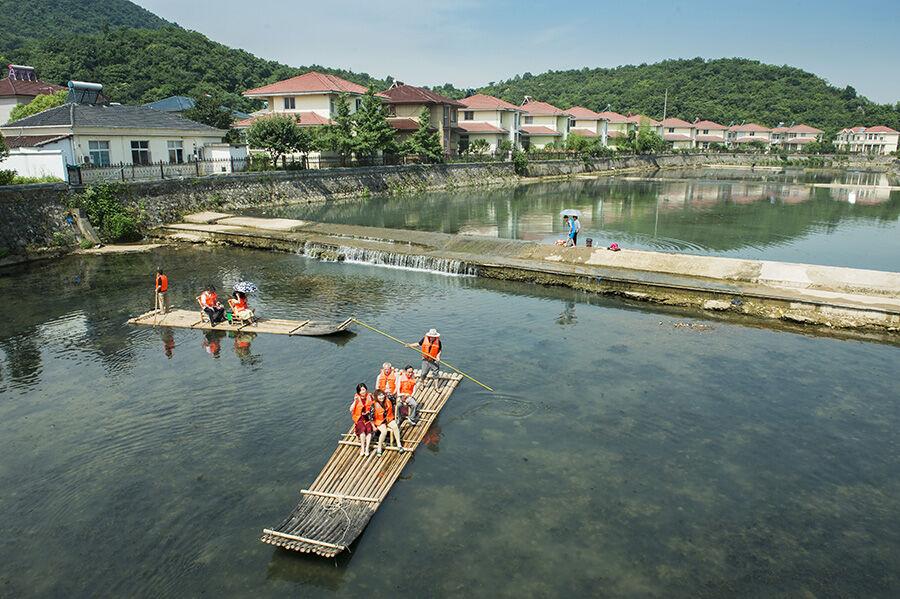 竹筏漂流 乡村游记