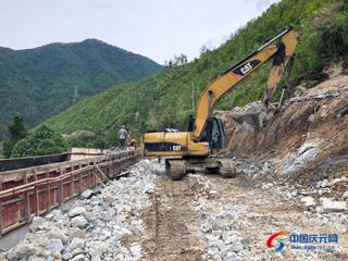 S329(55省道)庆元县兰溪桥段改建工程持续推进