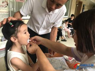 县中医院体检中心对全县学龄前儿童进行健康体检
