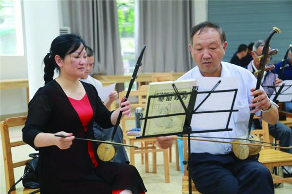 龙游县首期婺剧(徽戏)演唱演奏骨干培训
