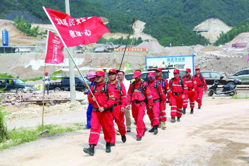 高坪桥水库建设举行防汛应急抢险演练