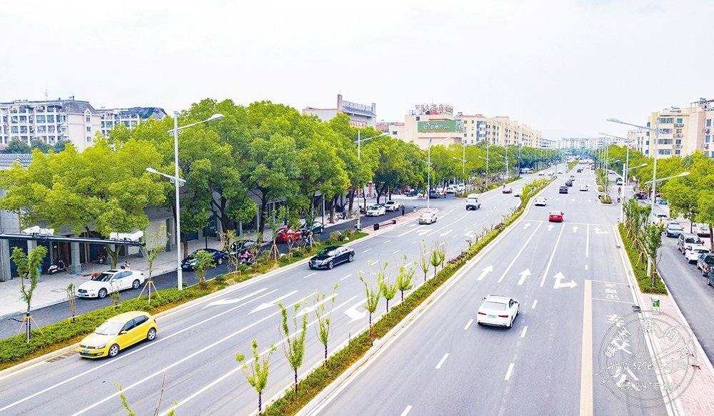 奋战200多天 嵊州大道提升改造工程主体部分全线竣工