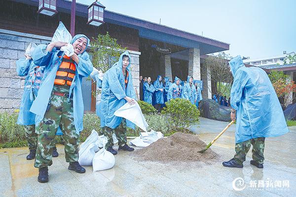 镜岭镇举行防汛防台应急演练