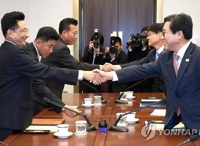 韩朝深夜举行体育工作会谈