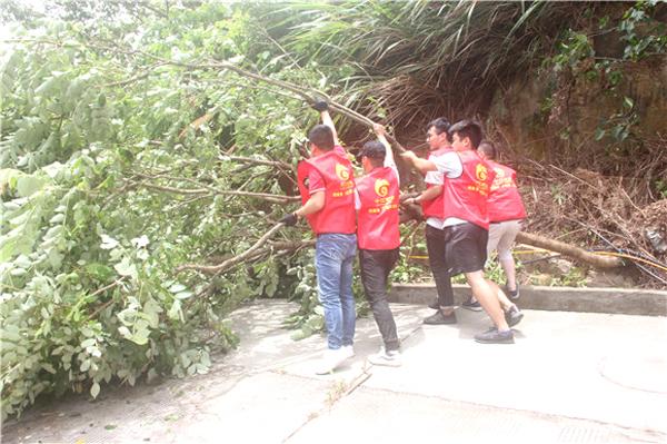 干江:防台救灾中的红色正能量