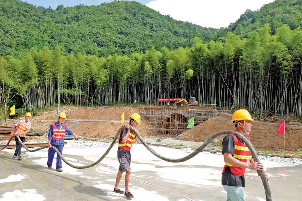 灵江建闸引水扩排工程先行段建设紧锣密鼓推进