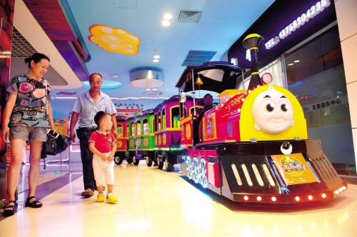 小火车驶进大商场