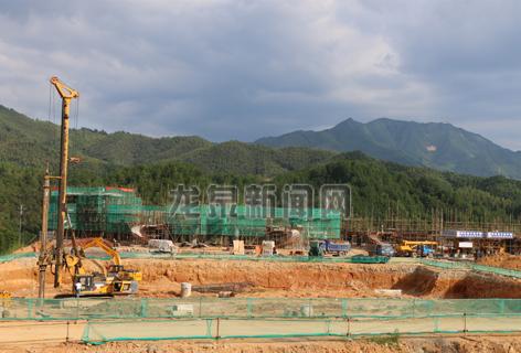 中国青瓷小镇维景温泉度假酒店项目建设现场