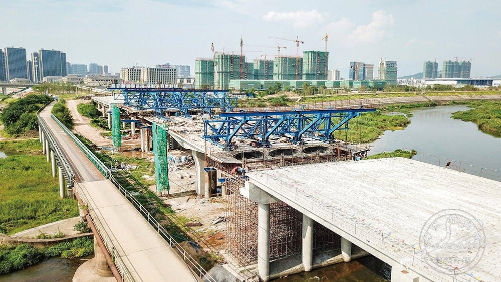 潭遏大桥完成工程进度约70%