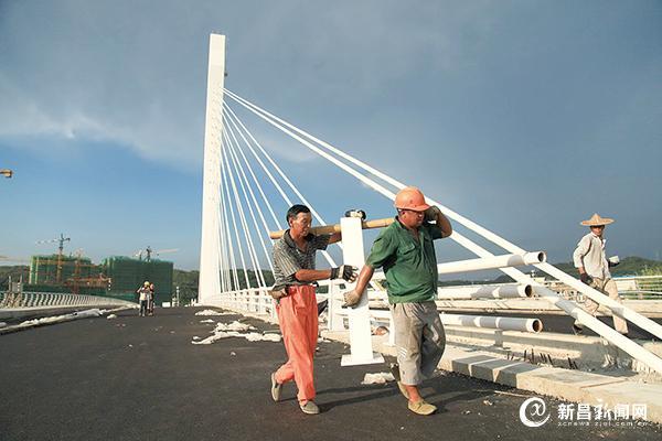 天姥大桥建设接近尾声