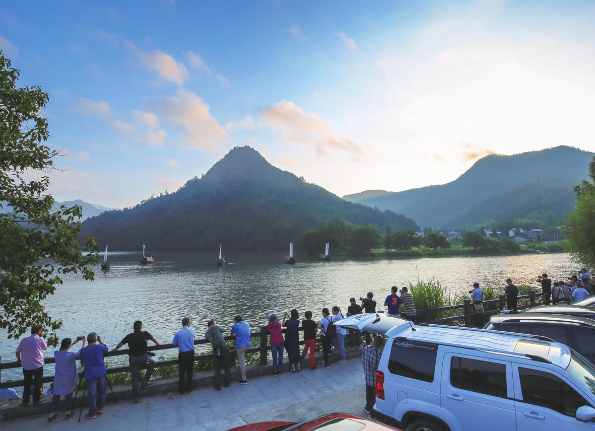 瓯江帆影 一张摄影的金名片