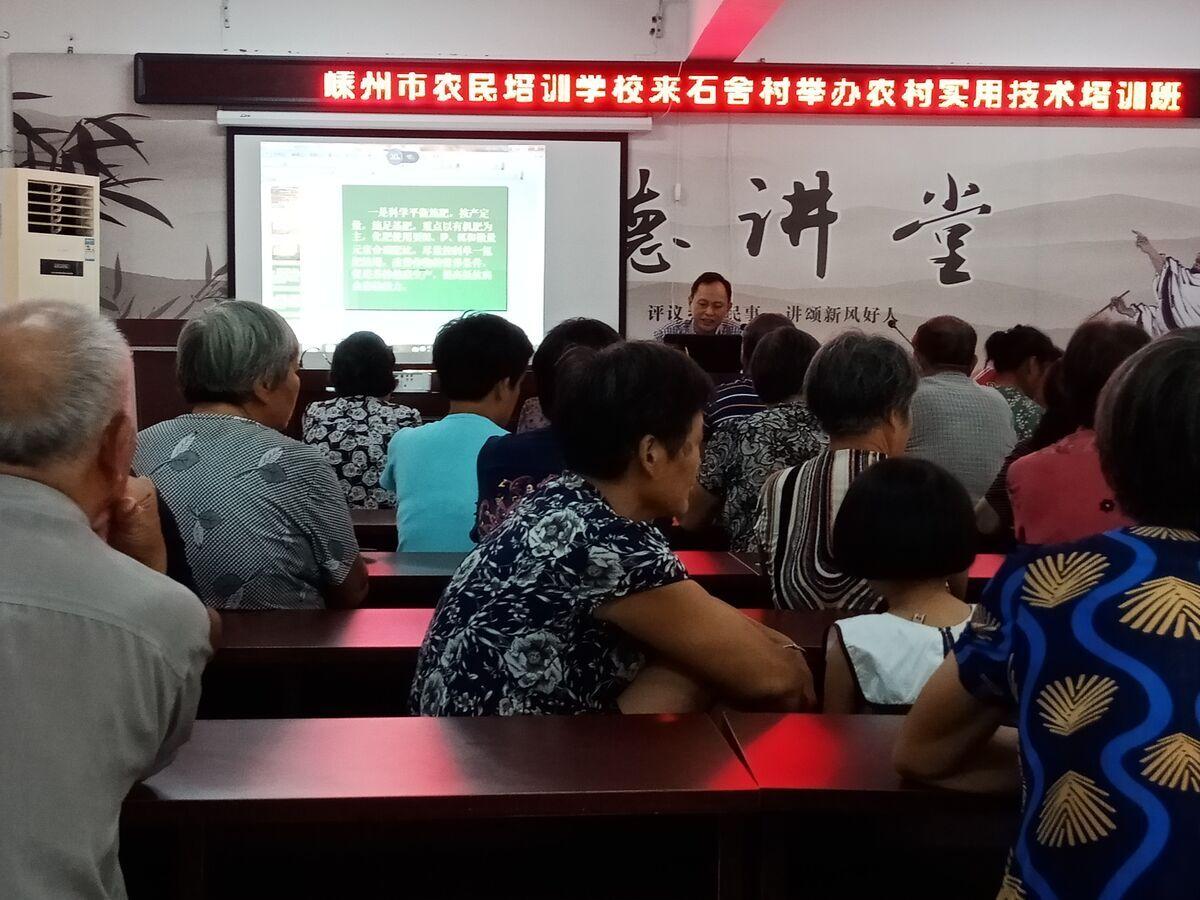 下王镇举办农村实用技术培训班
