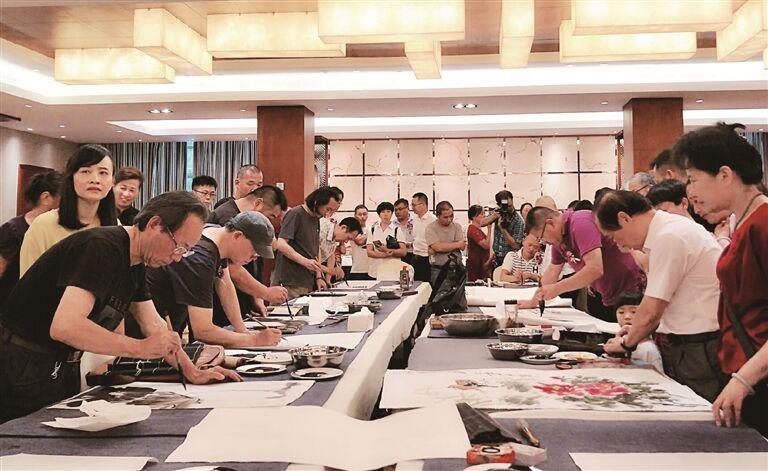 上海嵊州两地书画家联谊活动