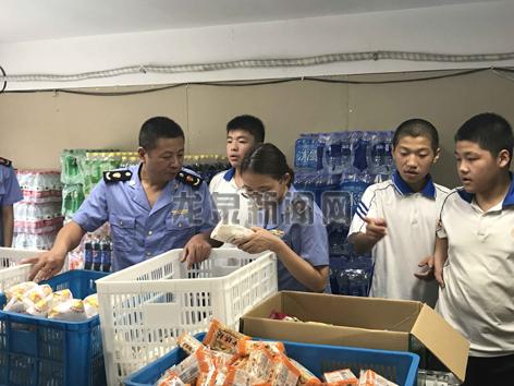 市市场监管局就对全市校园食品店开展食品安全检查