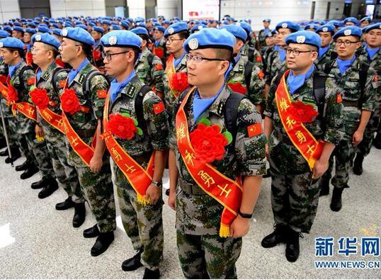 中国赴南苏丹(瓦乌)维和部队出征