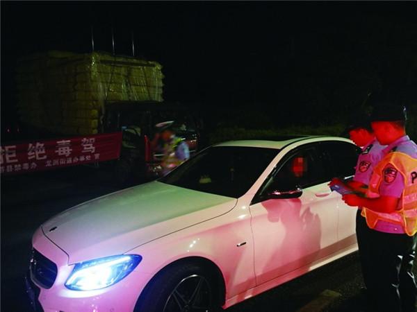 龙游县警方开展查酒驾禁毒驾行动