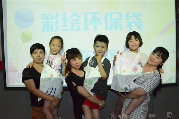 莲花社区暑期教育手绘环保袋——美丽桐乡我的家
