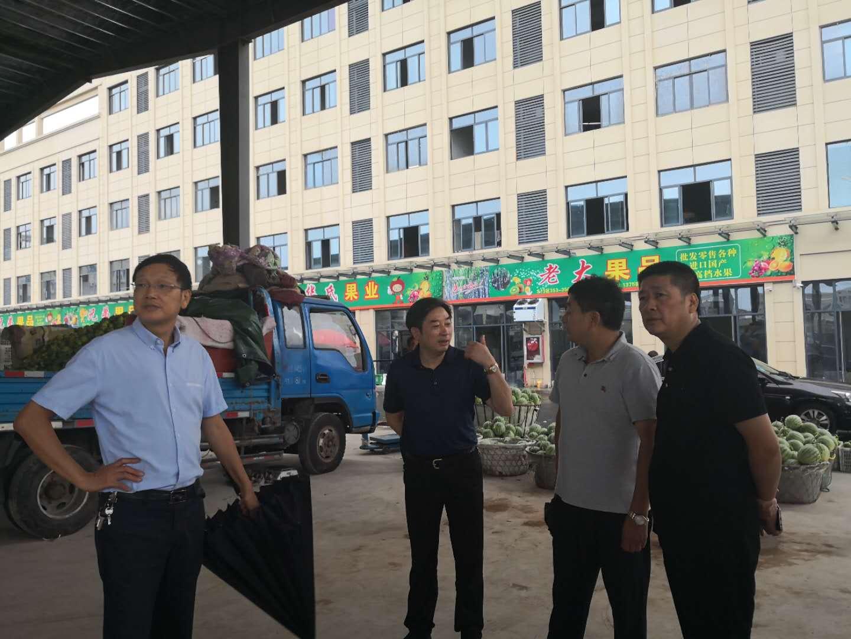 市人大常委会副主任王灿林一行走进鹿山街道调研走访