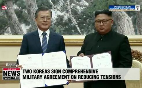 朝韩签署《平壤共同宣言》等