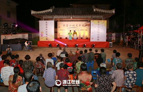 安吉梅溪镇:村民非遗小戏 唱响丰收季节
