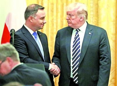 特朗普会晤波兰总统考虑永久驻军