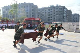 县民族宗教界消防趣味运动会在县消防大队举行