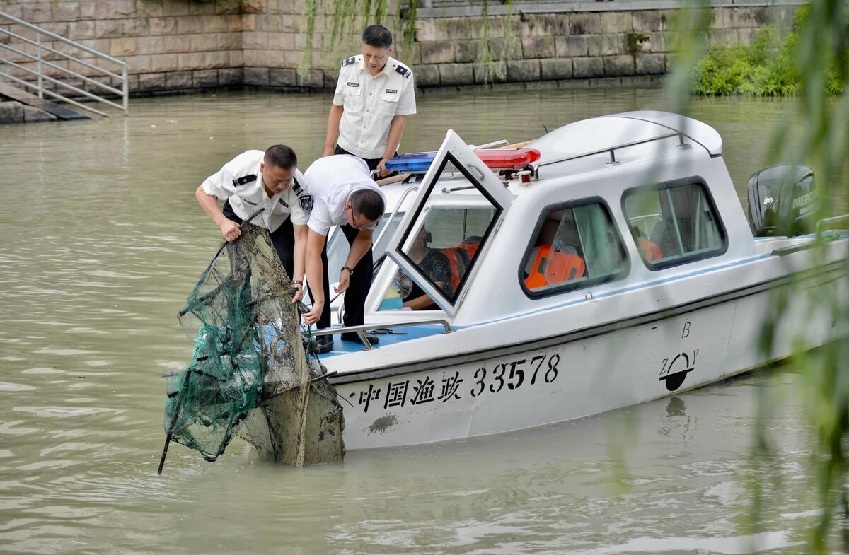 """渔政执法""""收网"""""""