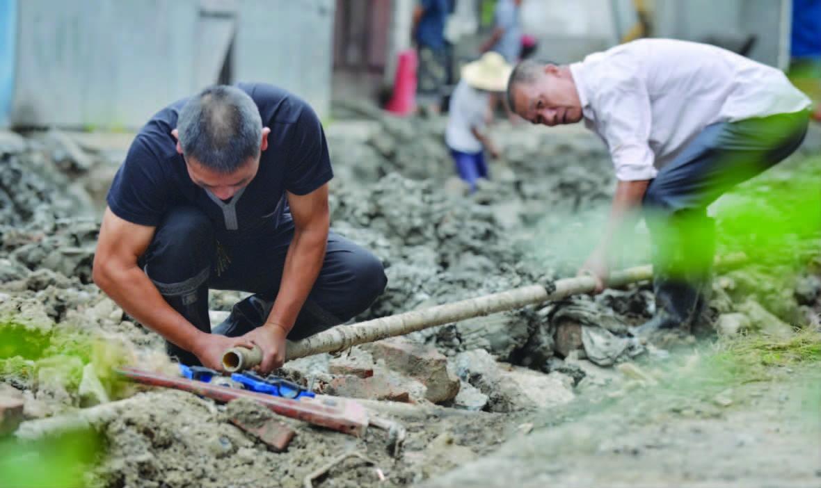 抢修水管保供水