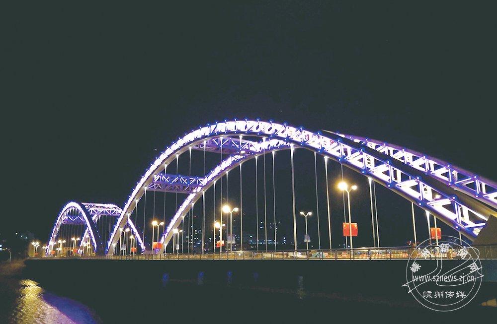 嵊州大桥涂装亮化主体完工